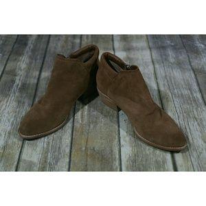 Steve Madden Tobii Ankle Boots Block Heel Tan